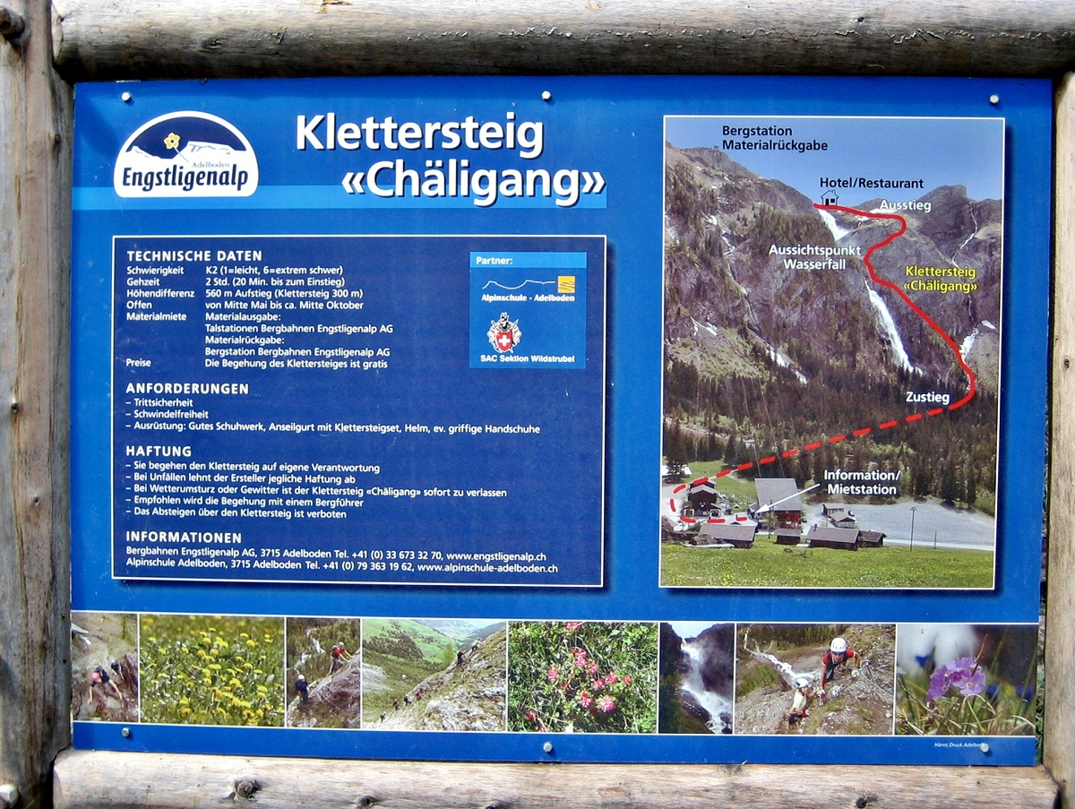 Klettersteig Chäligang : Chäligang klettersteig in adelboden « fels